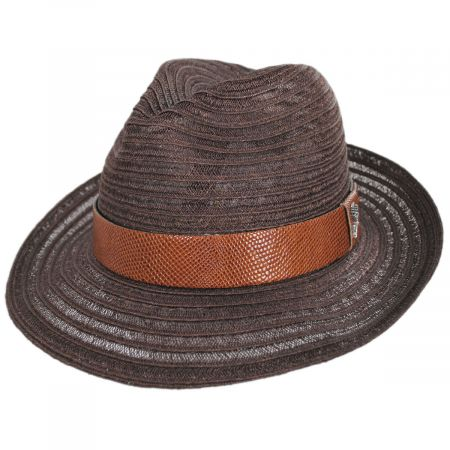 Avant Gard Hemp Straw Fedora Hat alternate view 9