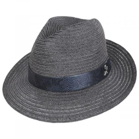 Carlos Santana Avant Gard Hemp Straw Fedora Hat
