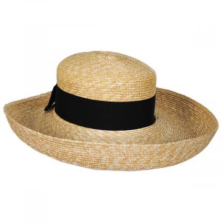 Jen Milan Straw Lampshade Hat