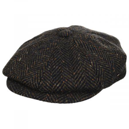 Failsworth Magee Donegal Tweed Herringbone Wool Blend Newsboy Cap