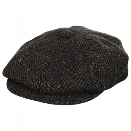 Magee Donegal Tweed Herringbone Wool Blend Newsboy Cap alternate view 5