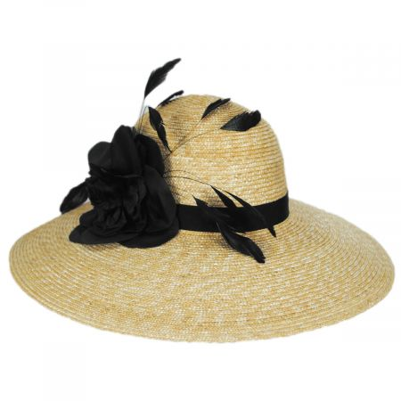 Callanan Hats Joyice Milan Straw Swinger Hat