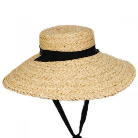 Sun-Brella Raffia Straw Boater Hat