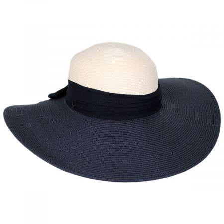 Calmia Toyo Straw 2-Tone Swinger Sun Hat