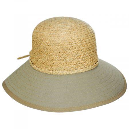 Sharon Raffia Straw and Cotton Facesaver Hat alternate view 5