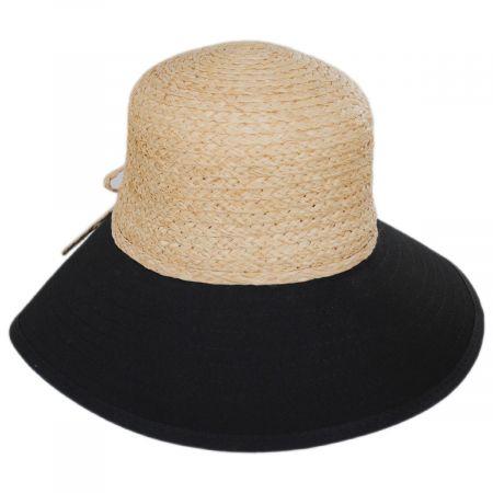 Sharon Raffia Straw and Cotton Facesaver Hat