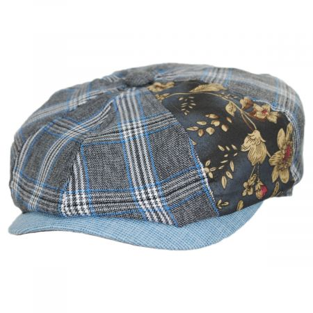 Aire Mixed Print Cotton Newsboy Cap alternate view 5