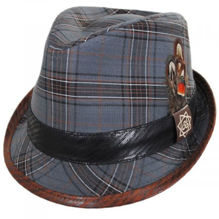 Romeo Plaid Cotton Fedora Hat alternate view 9
