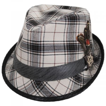 Romeo Plaid Cotton Fedora Hat alternate view 5