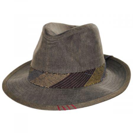 1969 Wax Cotton Fedora Hat