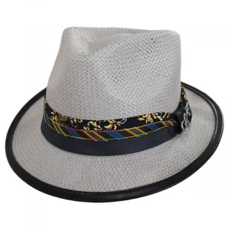 Carlos Santana Showman Toyo Straw Fedora Hat