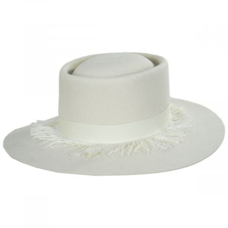 Brixton Hats Phoenix Ivory Wool Felt Gambler Hat