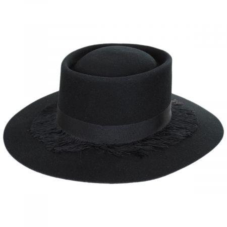 Brixton Hats Phoenix Black Wool Felt Gambler Hat