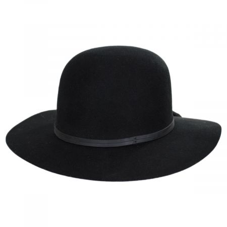 Brixton Hats Phoebe Wool Felt and Leather Open Crown Hat