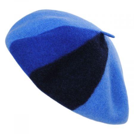 Audrey Colorblock Wool Beret
