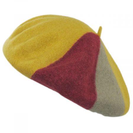 Brixton Hats Audrey Colorblock Wool Beret