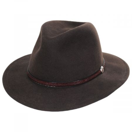 Cromwell Crushable Wool Felt Fedora Hat alternate view 1