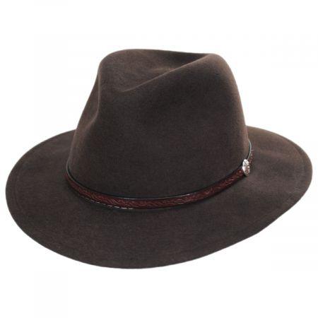 Cromwell Crushable Wool Felt Fedora Hat alternate view 9