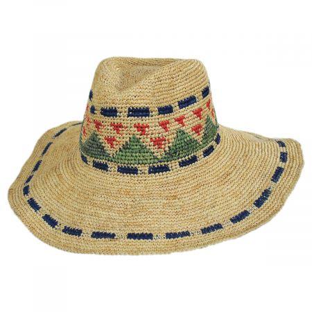 Crochet Pattern Raffia Straw Fedora Hat