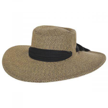 Ultrabraid Scarf Bow Toyo Straw Blend Boater Hat