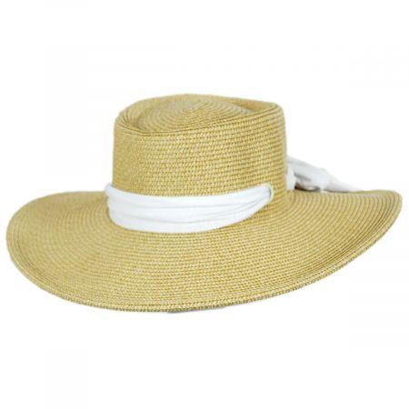 San Diego Hat Company Ultrabraid Scarf Bow Toyo Straw Blend Boater Hat
