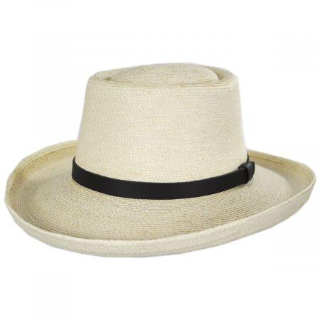 SunBody Hats Golf Guatemalan Palm Leaf Straw Gambler Hat