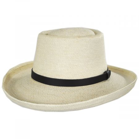 Golf Guatemalan Palm Leaf Straw Gambler Hat alternate view 5