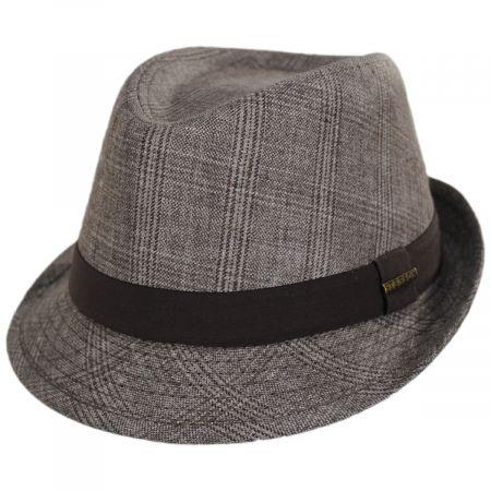 Stetson Keeper Plaid Irish Linen Fedora Hat