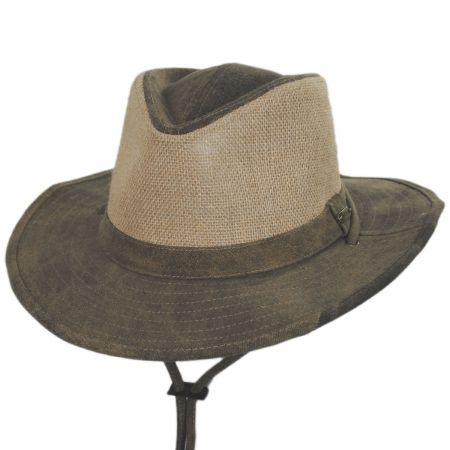 Stetson Buckaroo Tarp Cloth Cotton Outback Hat