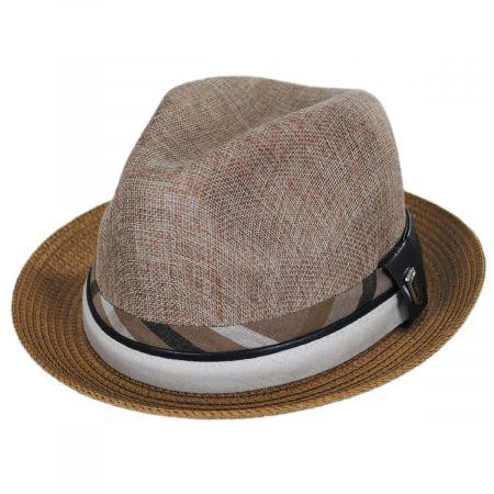 Roxbury Toyo Straw Blend Fedora Hat alternate view 13