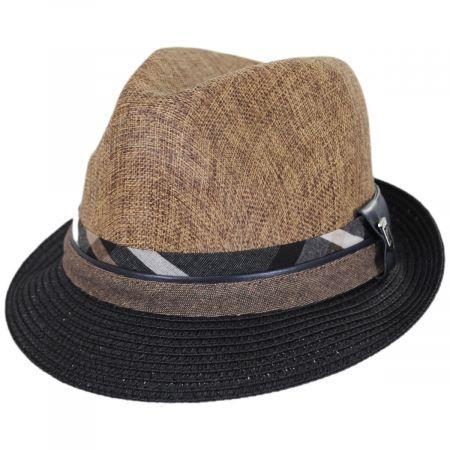 Stacy Adams Roxbury Toyo Straw Blend Fedora Hat