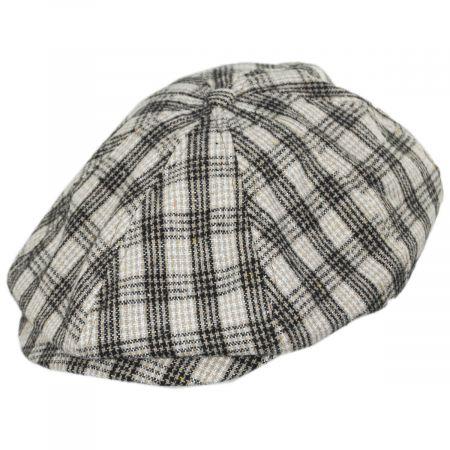 Brixton Hats Brood Lightweight Houndstooth Plaid Overcheck Newsboy Cap