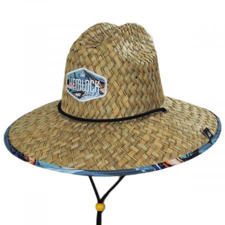 Hemlock Hat Co Reel Straw Lifeguard Hat