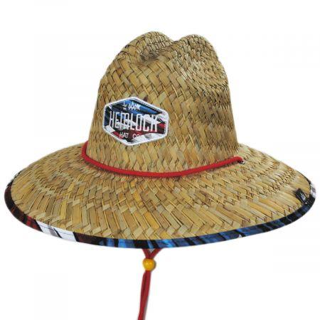 Hemlock Hat Co Maverick Straw Lifeguard Hat