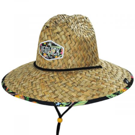 Hemlock Hat Co Dundee Straw Lifeguard Hat
