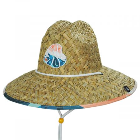 Hemlock Hat Co Hi Tide Straw Lifeguard Hat