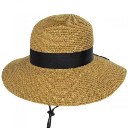 Toucan Collection Detachable Chinstrap Toyo Straw Sun Hat