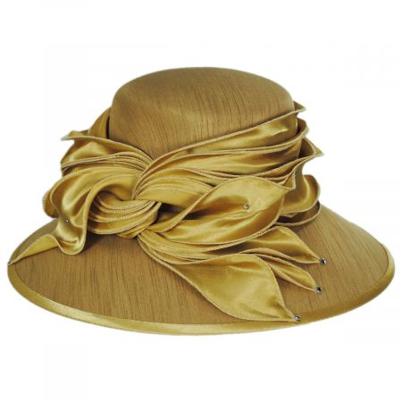 Toucan Collection Satin Twist Shantung Dress Hat