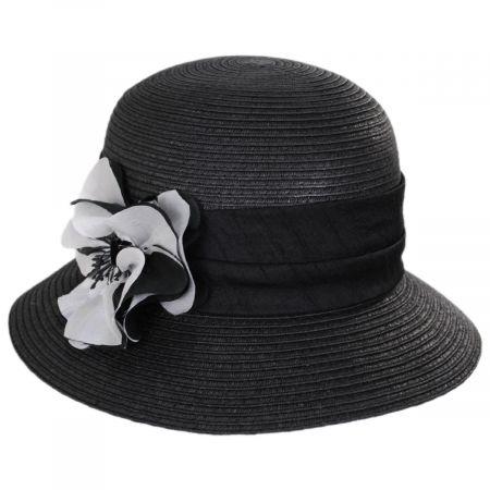 Poppy Toyo Straw Cloche Hat