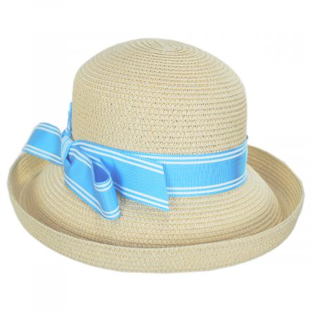 Toucan Collection Side Bow Toyo Straw Roller Hat