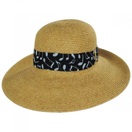 Toucan Collection Musical Note Toyo Straw Sun Hat