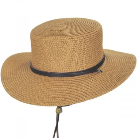 Mexican Palm Leaf Straw Lifeguard Sun Hat w//Chin Strap /& Vented Crown