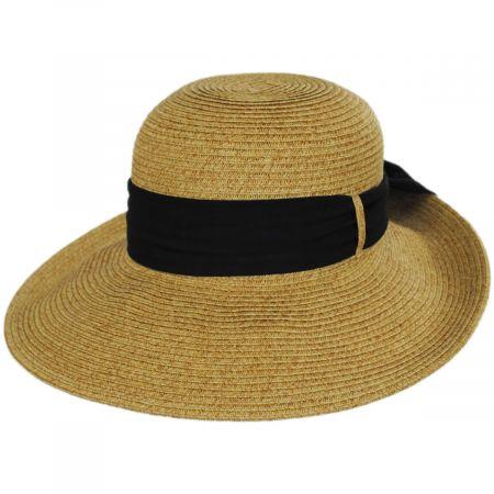 Toucan Collection Chiffon Scarf Toyo Straw Sun Hat