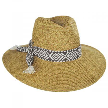 Scala Florentino Toyo Straw Blend Safari Fedora Hat