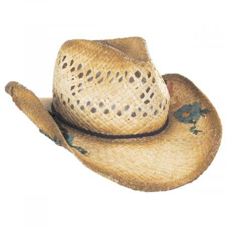 San Minato Raffia Straw Western Hat