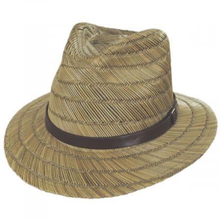 Brixton Hats Messer Rush Straw Blend Fedora Hat