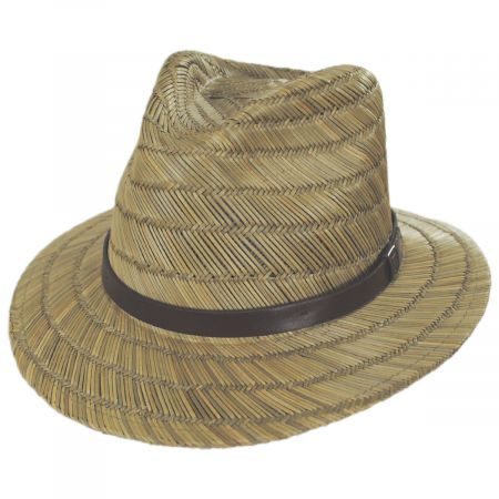 Messer Rush Straw Blend Fedora Hat alternate view 5