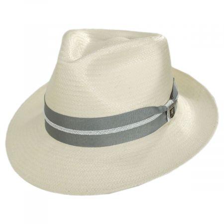 Stacy Adams Bennett Toyo Straw Fedora Hat