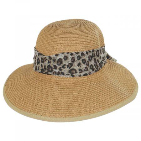 Panama Jack Tigerfish Toyo Straw Facesaver Hat