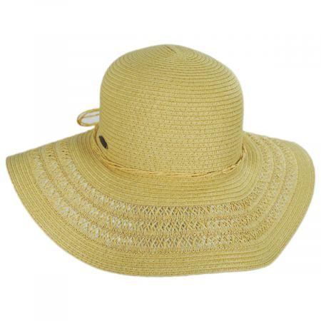 Panama Jack Vent Brim Toyo Straw Swinger Sun Hat